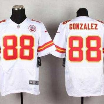 PEAP1N Nike Kansas City Chiefs #88 Tony Gonzalez White NFL Elite Jersey