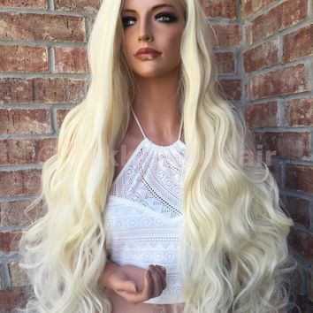 Mariska Light Blonde Lace Swiss Front Wig 26""