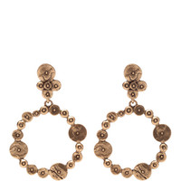 Gold-Plated Disc Clip-On Earrings by Oscar de la Renta Now Available on Moda Operandi