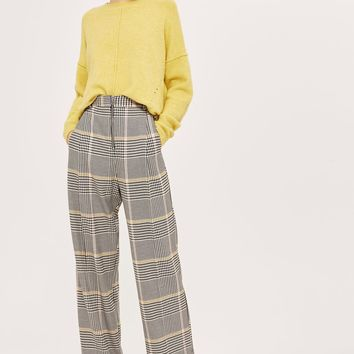 Bright Checked Wide Leg Trousers - Clothing