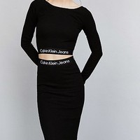 Calvin Klein for UO Black Crop Top - Urban Outfitters