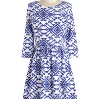 Mid-length 3 A-line Meant to Beam Dress