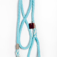 Rope dog lead dog collar pet supplies dog leash: Small sea foam cotton rope 50""