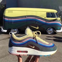 ONETOW Fashion Nike Air Max 97 / 1 Sean Wotherspoon AJ4219-400 VF SW Hybrid Sport Running Shoes