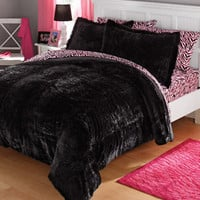 Walmart: your zone long fur bedding comforter set