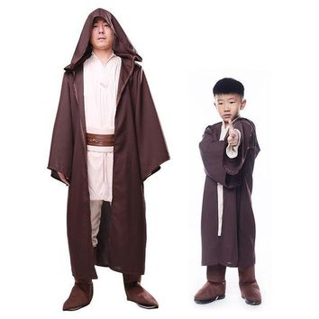 ONETOW Children Star Wars cosplay costume Force Awakens Jedi Knight Anakin halloween costume for kid boy Anacarnival party fancy dress