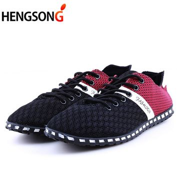 New Fashion Cheap Air Mesh Fabric Mens Loafers Cloth Patchwork Leisure Canvas Shoes for Mans Cool Walk Shoes Online PA891292