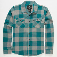 Shouthouse Lancaster Boys Flannel Shirt Teal Blue  In Sizes