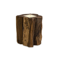 Rustic Teak Wood Candles