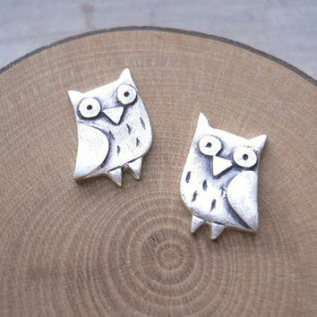 MIn 1pc Gold/ Silver  Plated 2016 New Arrival owl jewelry owl Stud Earrings for Women Animal bird Stud Earrings Gifts ED068