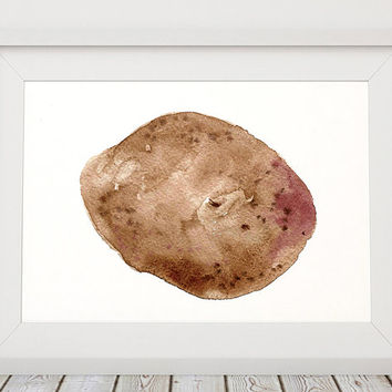Potato decor Kitchen print Vegetable poster Watercolor print ACW302