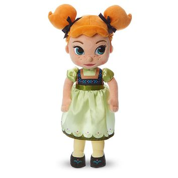 "Licensed cool Disney Store Animators 13"" Princess ANNA Plush Toddler Toy Doll FROZEN"