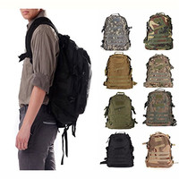 CAMTOA 40L Tactical Backpacks Heavy Duty Expandable Military MOLLE Tactical Assault Backpack Tan