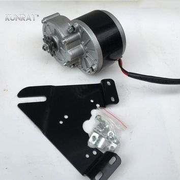 UNITEMOTOR MY1016Z2 250W 24V 36V DC Brush Gear Motor For Electric Bicycle Scooter Bike With Iron Bracket Holder DIY Conversion