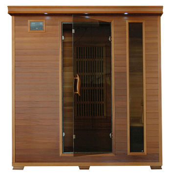 4-Person Cedar Carbon Infrared Sauna with 9 Heaters
