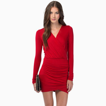 Long Sleeve Pen Dress Stylish Sexy Slim Skirt One Piece Dress [6281612484]