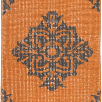 Surya Zahra ZHA4025 Orange/Black Medallion and Damask Area Rug