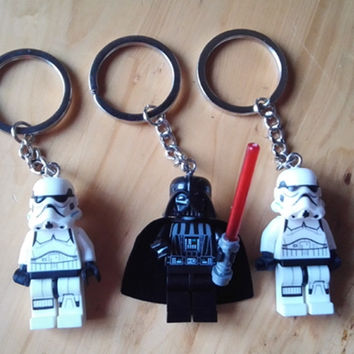 2016 New Star war keychain Minifigures keychain,The storm troops Building Block Assemble Figure keyrings,The force Awakens gift