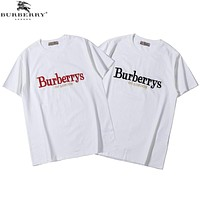 Burberry Woman Men Embroidery Fashion Tunic Shirt Top Blouse