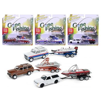 Gone Fishing 2017 Release 3A Set of 3 Each item is Limited1:64 Diecasts