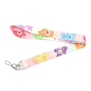 Care Bears lanyard ID holder keychain