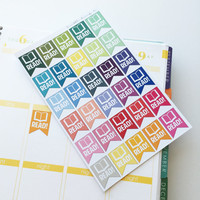 "30 ""Read!"" Page Flag Die-Cut Stickers // (Perfect for Erin Condren Life Planners)"