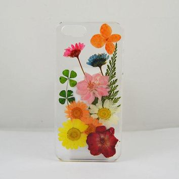 Pressed Real Flower Iphone 6 Case Real Flower Iphone 5 /5c / 4 Case
