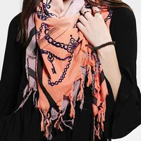 Leigh & Luca Silk Square Scarf- Orange One