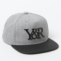 Young & Reckless 24K Matte Strapback Hat - Mens Backpack - Grey Heather/Black - One