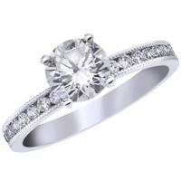 "Ben Garelick Royal Celebration ""Magnolia"" Channel Set Diamond Engagement Ring"