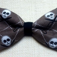 Skulls Day of the Dead Hair Bow Scissors by TiedInaKnotBowtique
