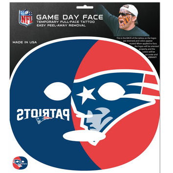 New England Patriots Game Face Temporary Tattoo FGFD120