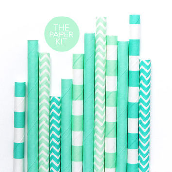 25 Paper Straws - Black and White Polka Dot - Colored Drinking Straw Birthday Party Wedding Baby Shower Cake Pop Sticks / Small Spots Dots
