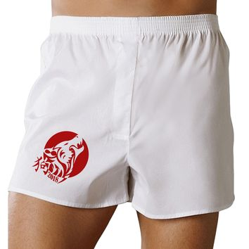 Chinese New Year 2018 Dog Boxers Shorts by TooLoud