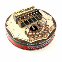 Large Round Recycled Tin Can Kalimba Musical Instrument