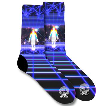 Grid Noise Socks