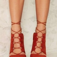 Nasty Gal Point It Out Lace-Up Heel