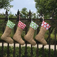 Canvas Christmas Stocking Gift Bags Canvas Christmas Xmas Decor Stocking Decorative Socks Bags