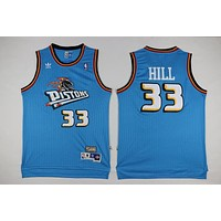 Classic NBA Basketball Jerseys Detroit Pistons #33 Grant Hill Blue