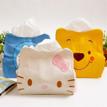 PU Hello Kitty Pooh Cute Home Car Tissue Case Box Container Towel Napkin Papers BAG Holder storage BOX orginazer