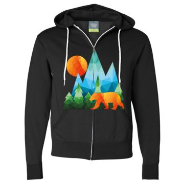 California National Forest Bear Zip-Up Hoodie