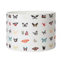 Butterfly Print Lampshade - Space 1a - rainbow - handmade - quirky lighting - Butterfly decor - gift for her - gift for new home