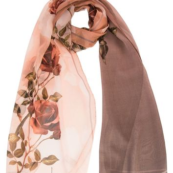 Maddelena-Silk Chiffon Scarf by Laura Biagiotti-Antique Rose