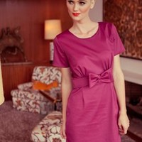 Look of Love Pink Cap Sleeve Bow Dress