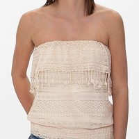Eyeshadow Lace Tube Top