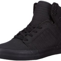Supra Skytop Mens Size 8 Black Sneakers Textile Skate Shoes