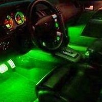 GREEN LED INTERIOR LIGHT KIT FITS ALL CARS