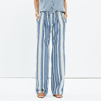 Striped Lawndale Wide-Leg Pants