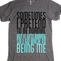 Not Normal-Unisex Athletic Grey T-Shirt