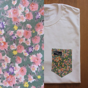 Leo's Floral Paige's Pocket Tee Shirt